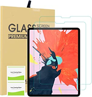 EOTW [2 Pack] Screen Protector for iPad Pro 11, Tempered Glass Screen Protector Work with Face ID Protective Film Anti-Fingerprint HD Scratch 9H Scratch Resistance for Apple iPad Pro 2018 New