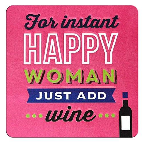 Opmerkingen & citaten voor onmiddellijke gelukkige vrouw gewoon wijn toevoegen - reliëf blikmagneet