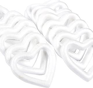 polystyrene heart shapes