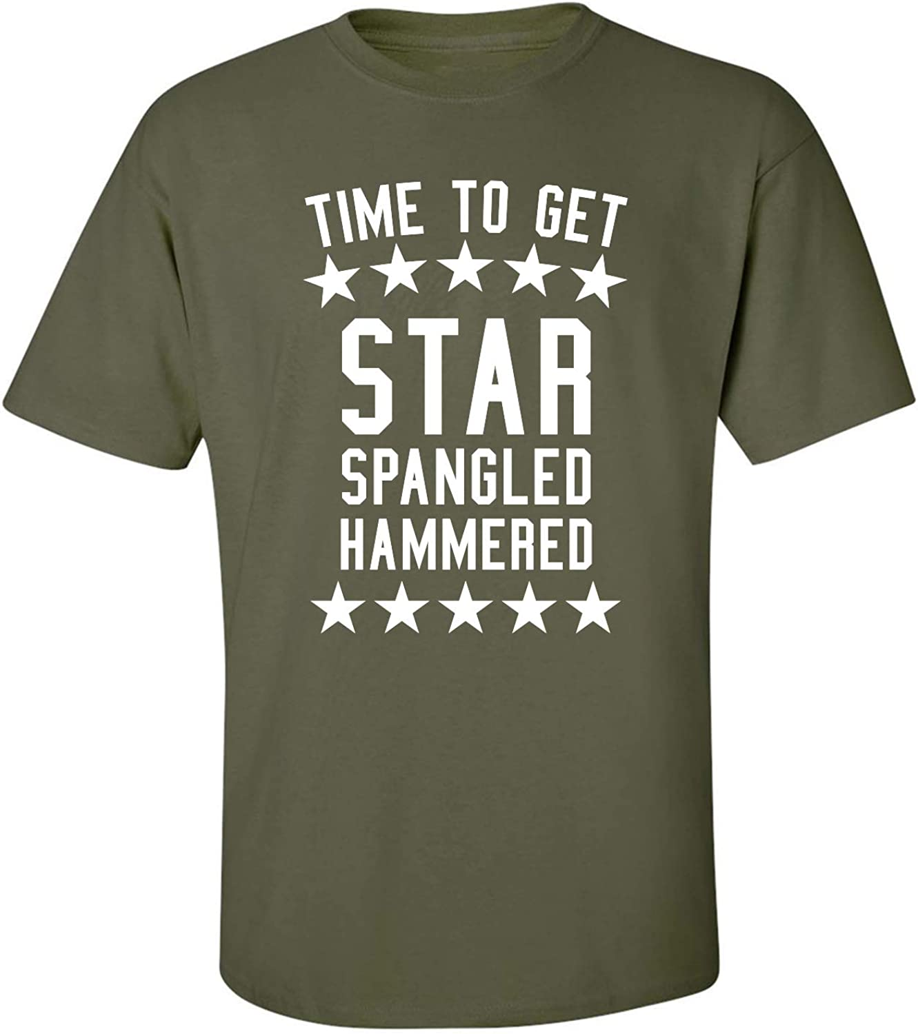 zerogravitee Time to Get Star Spangled Adult Short Sleeve T-Shirt