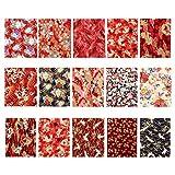 Excelart 15 Stück Baumwollstoff im japanischen Stil Nähen