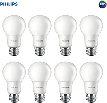 Philips LED 462168 Non-Dimmable A19 Frosted Light Bulb: 800-Lumen, 5000