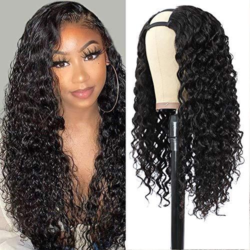 Pelucas de cabello humano en U Parte media Pelucas de cabell