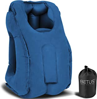 Betus Dreamer Comfort Inflatable Travel Pillow for Airplane - Ergonomic Design & Comfortable Neck Head Rest Pillow for Lon...