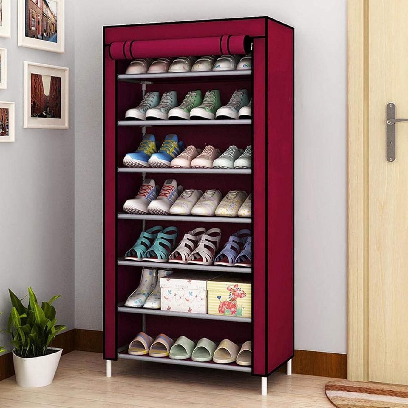 宙返り古代本当のことを言うとじゃない-織 靴箱,アセンブリ防塵 靴オーガナイザー 取り外し可能な大容量 シューズボックス 靴のキャビネット-f 60x30x128cm(24x12x50inch)