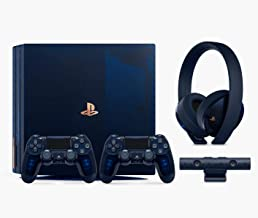 Playstation 4 Pro 2TB SSD Limited Edition Console - 500 Million Deluxe Bundle Enhanced with Fast Solid State Drive (Renewed)
