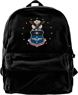 Homyh States Air Force Academy Unisex Classic Canvas Travel School Backpack Fits 14 Inch Laptop