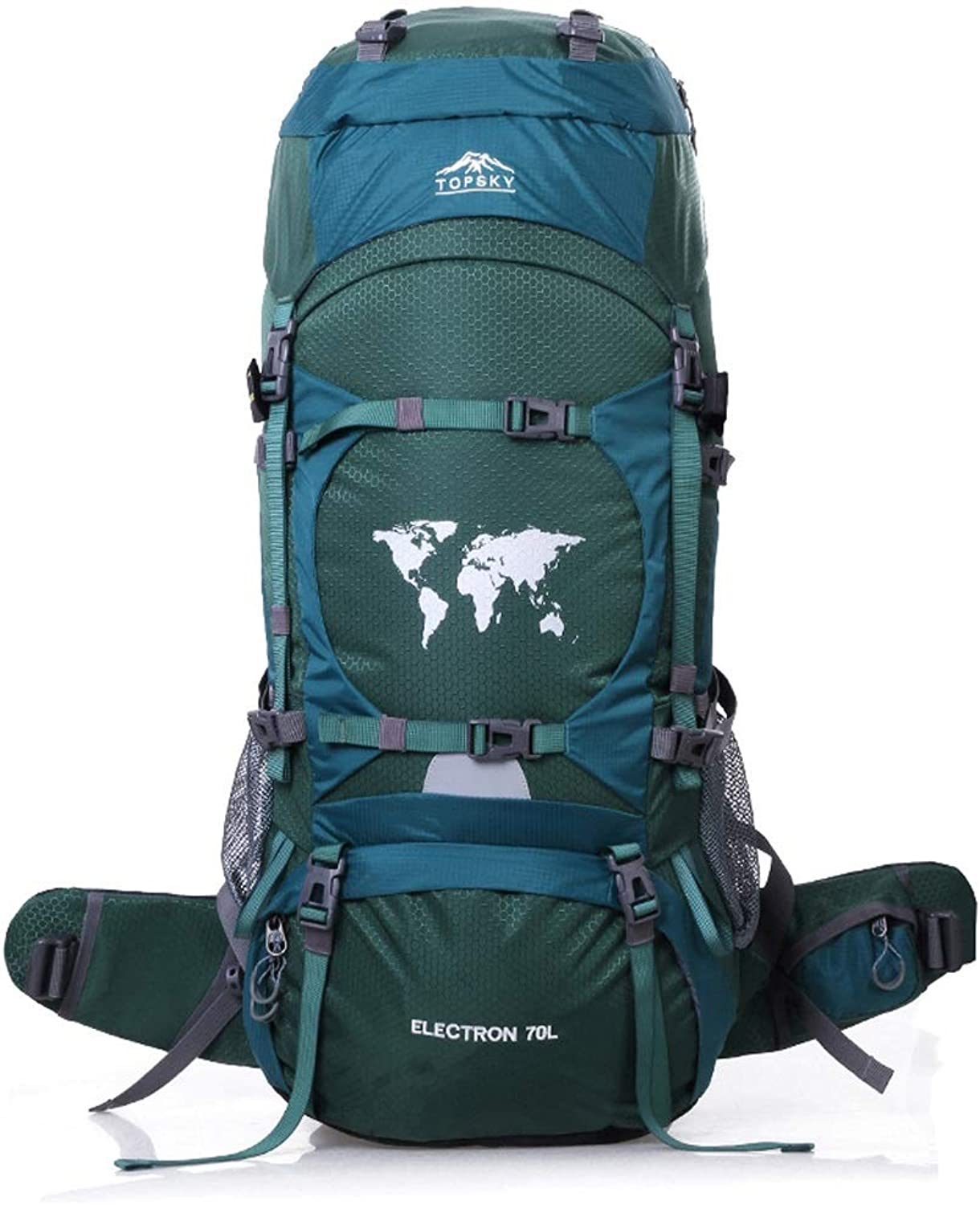 QYSZYG Mountaineering Bag Shoulder Male Travel Outdoor Backpack Female Large Capacity 70L80L Hiking Waterproof Rucksack Outdoor Backpack (color   A, Size   75cm×30cm×30cm)
