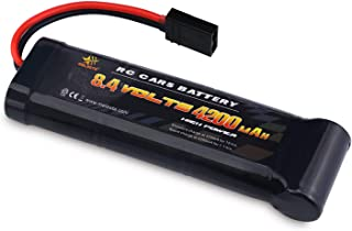 melasta 8.4V 4200mAh 7-Cell Flat Pack NiMH Battery with Traxxas Discharge Plug for RC Racing Car Toys Hobbies