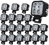 20X 12W Led Arbeitsscheinwerfer Offroad Lampe Flood Scheinwerfer LED Arbeitslicht 12V 24V Zusatzscheinwerfer Rückfahrscheinwerfer für Traktor Bagger SUV - 60 Grad Wasserdicht IP67 1120LM