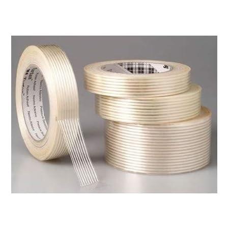 Carton 6 rouleaux rouleau adh/ésif 19 mm x 50 m Ruban adh/ésif arm/é fil /à fil transparent 130/µ