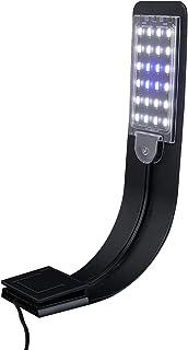 UEETEK Super delgado LED Plantas de luz de acuario crecen la iluminación creativa Clip-on lámpara con enchufe de la UE (lu...