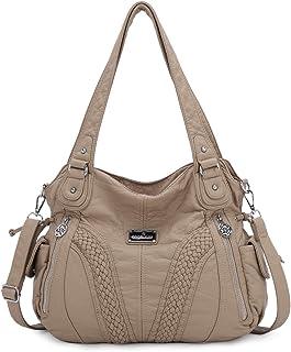 حقائب يد هوبو للنساء واسعة متعددة الجيوب للسيدات الشارع حقيبة الكتف حقيبة عصرية ناعمة من الجلد المغسول حقيبة حمل