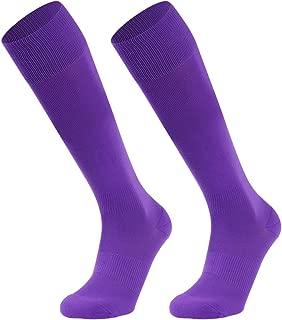 Football Socks,Knee High Long Sports Socks Unisex Solid Socks 1/2 Pairs