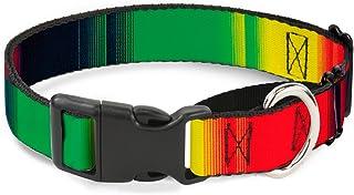"Buckle-Down Zarape4 Vertical Rasta Martingale Dog Collar 1"" Wide - Fits 15-26"" Neck - Large multi MGC-W32629-L"