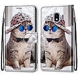 i-Case Etui en PU 360 Protection Full Cuir pour Samsung Galaxy J4/J400 Coque Flip Case Housse à...