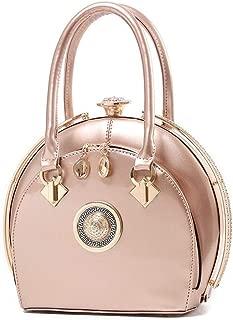 Redland Art Women's Fashion Sparkly PU Leather Mini Clutch Bag Wristlet Evening Handbag Catching Purse Bag for Wedding Party (Color : Pink)