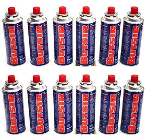 Butsir Cartuchos de recarga de gas 227 g – Pack de 12 cartuchos de gas
