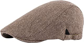 BESBOMIG Flat Caps Beret Duckbill Hat Tweed Gatsby Hat Newsboy Cap Breathable Cabbie Hat for Men Women 55-60cm