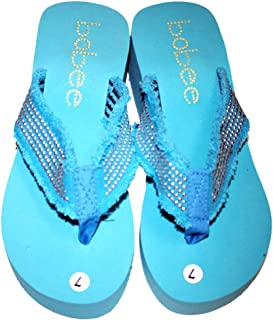 Womens Sandal Beach Flip Flops Wedge with Studded Straps Style Thongs Style#2928