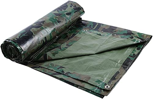 Tarpaulin HUO Bache Multi-usages, Tissu De Camouflage Imperméable, Couverture Solaire De Feuille D'abri D'ombrage (Couleur   Camouflage vert, Taille   5  6m)
