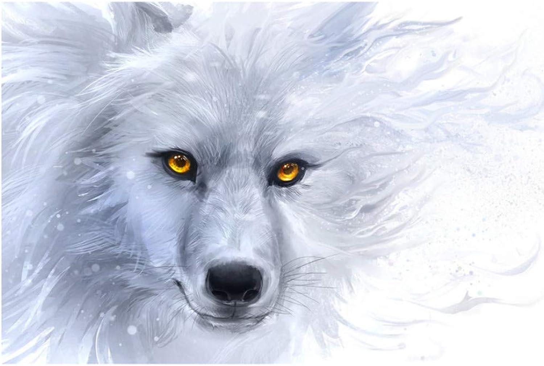 gran venta XIGZI 5D DIY DIY DIY Pintura Diamante blancoo Lobo Rhinestone Bordado de Diamante de Punto de Cruz Mosaico Decoración del Hogar Regalo Sin Marco  mejor opcion