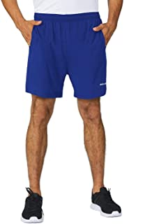 BALEAF Men's 5 Inches Running Athletic Shorts Quick Dry Zipper Pocket No Lining