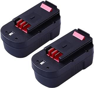 Upgraded 3600mAh for Black and Decker 18v Replacement Battery HPB18 HPB18-OPE 244760-00 A1718 FS18FL FSB18 Firestorm 18 Volt Batteries(2 Packs)