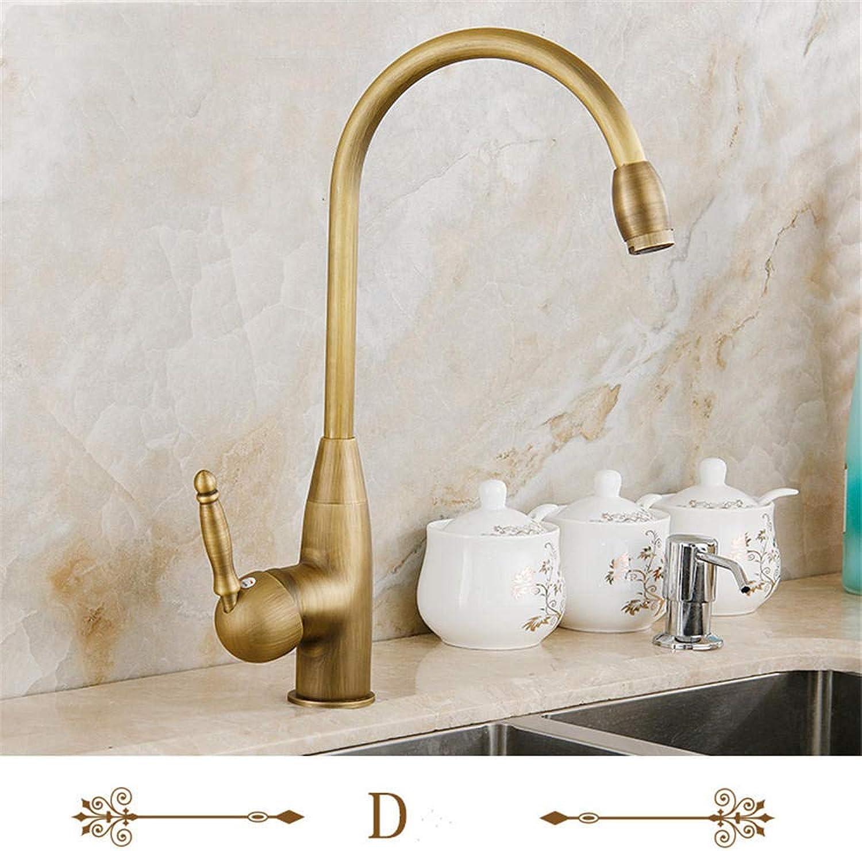 Alle Kupfer Bronze europischen Sp¨1le Wasserhahn antiken europischen Wasserhahn heien und kalten Sp¨1le Wasserhahn kann @ D gedreht werden