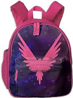 Logan Paul Logo Maverick Pink Toddler Mini Backpack Shoulder Schoolbag With Front Pockets