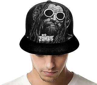 MAJJAKJH Rob Zombie Music Band Men and Women Adjustable Sun Hat Fashion Casual Dad Hat Baseball Cap Fishing Hat Truck Cap