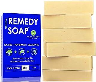 Sponsored Ad - Remedy Natural Tea Tree Oil Soap Bar for Men/Women (Pack of 5) – w/ Peppermint & Eucalyptus - Face & Body S...