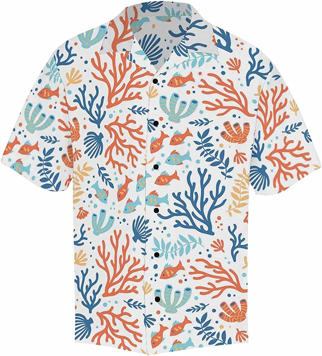 InterestPrint Men's Casual Button Down Short Hawa Sleeve Special specialty shop price Windows