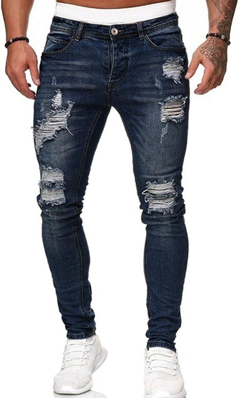 XIKN Slim Ranking TOP13 Fit Jeans Men Pants Stretch Trouser Austin Mall Denim Casual