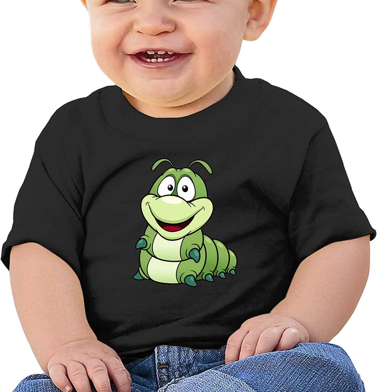 Cartoon Caterpillar Soft Short Sleeve T-Shirts Boys and Girls Top Tee Short Sleeve Cotton Round Neck