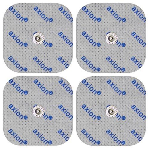 4 Elektroden Pads 5x5cm für Compex-Geräte mit Druckknopf-Anschluss.