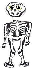 Shatchi HYPER-INFLATBLESKELTON-4PK - Esqueleto inflable para Halloween, decoración espeluznante, accesorios para fiestas al por mayor, color blanco