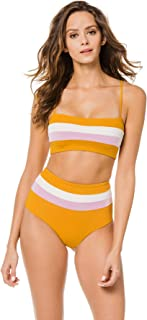 LSpace Women's Color Block Rebel Stripe Bandeau Bikini Top