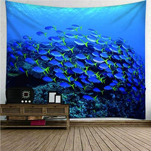 Fymm Shop Wandtapijt, 3D-print, oceaanlandschap, licht, draagbaar, strandhanddoek, multifunctioneel, wandbehang 140(H)X210(An)Cm