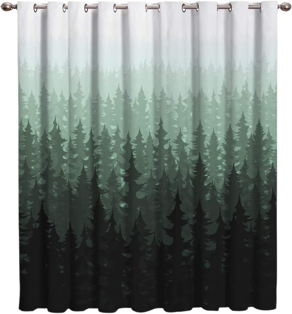 Nature Rare Forest Landscape Same day shipping Decor Window Ki Drapes Treatment Curtain