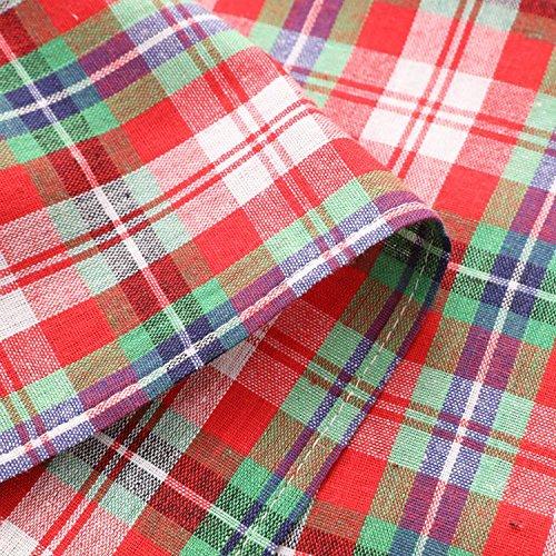 ZHFC français rétro réseau serviette serviette coton les aliments à l'occidentale pad pique - nique cloth fusillade accessoires 45 * 45 cm 1 bloc,réseaux rouge - verte,45 45 *
