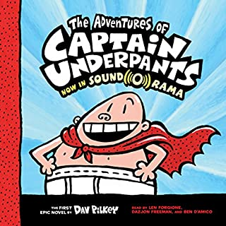The Adventures of Captain Underpants     Captain Underpants, Book 1              By:                                                                                                                                 Dav Pilkey                               Narrated by:                                                                                                                                 Len Forgione,                                                                                        Dazjon Freeman,                                                                                        Ben D'Amico                      Length: 1 hr     49 ratings     Overall 4.2