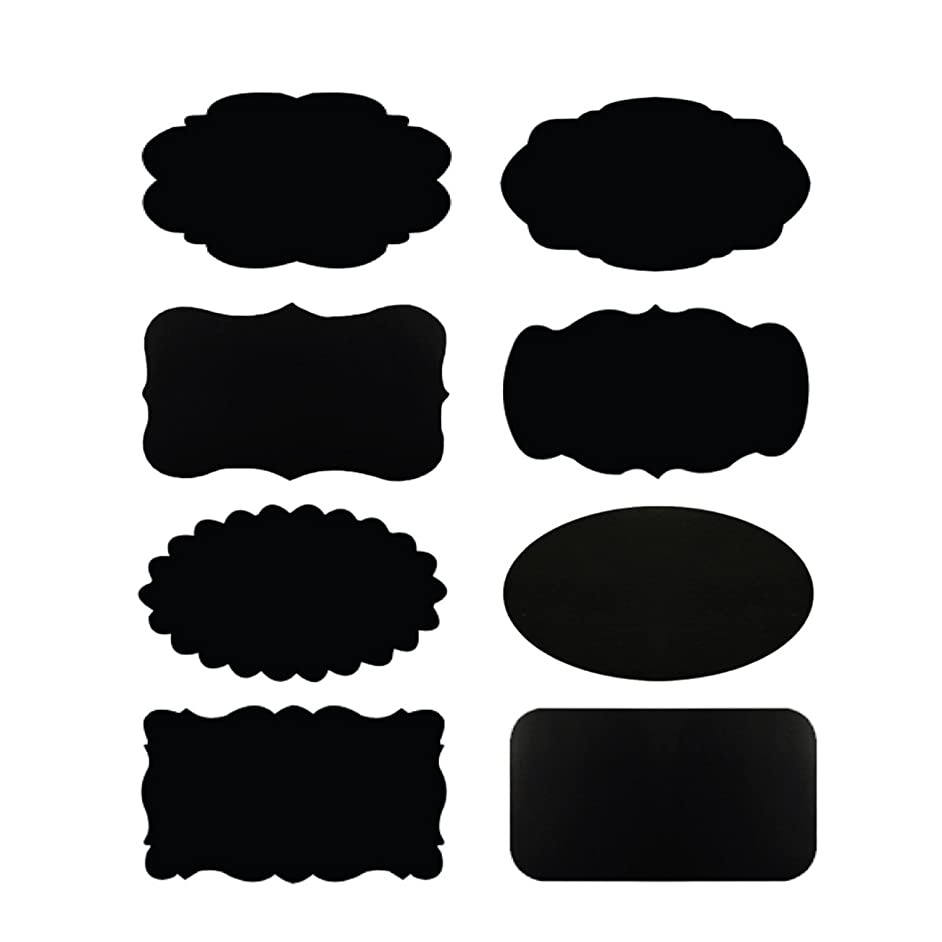 Wrapables Chalkboard Labels/Stickers, 2.5 by 1.5-Inch, Set of 32