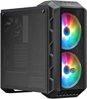 Cooler Master MasterCase H500 ARGB - PC Case with Dual 200mm Fans for High-Volume Airflow, Mesh and Transparent Front Chas...