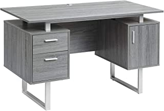 Techni Mobili RTA 7002 GRY Modern Office Desk With Storage Gray