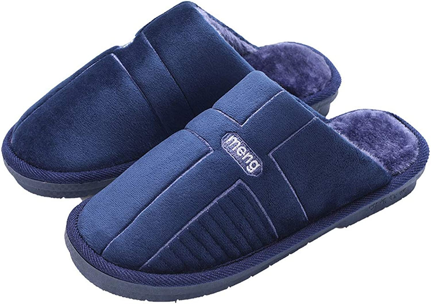 WGFGXQ Men and Women Cross Cotton Slippers, Autumn and Winter Home Non-Slip Warm Cotton shoes