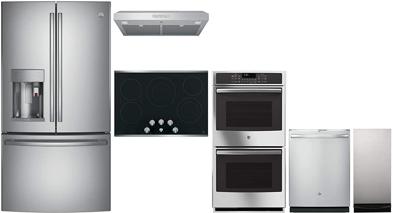 GE Profile 6 Piece Kitchen Package with Fridge, 30