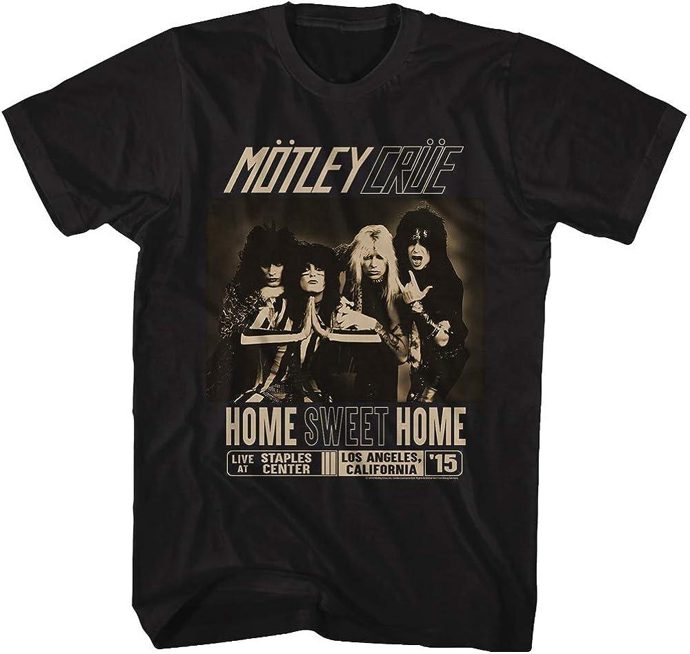 A&E Designs Motley Crue Home Sweet Home Adult Black Tee Shirt