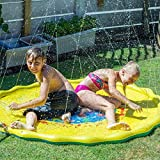 Kyman Inflable de pompón de Agua de Verano de los niños del Juego del bebé de Agua Mat Juegos Beach Pad césped al Aire Libre hidromasaje Alberca