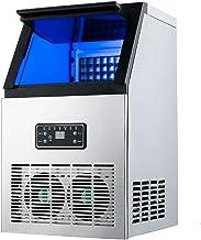 AZYVv Machine A Glacons Machine À Glaçons Commerciale En Acier Inoxydable Écran Lcd 50Kg De Glace En 24 Heures Machine À G...